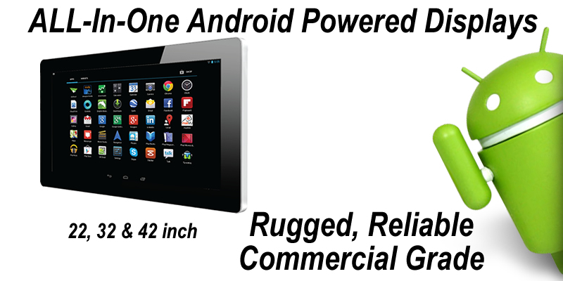 Large format Android displays